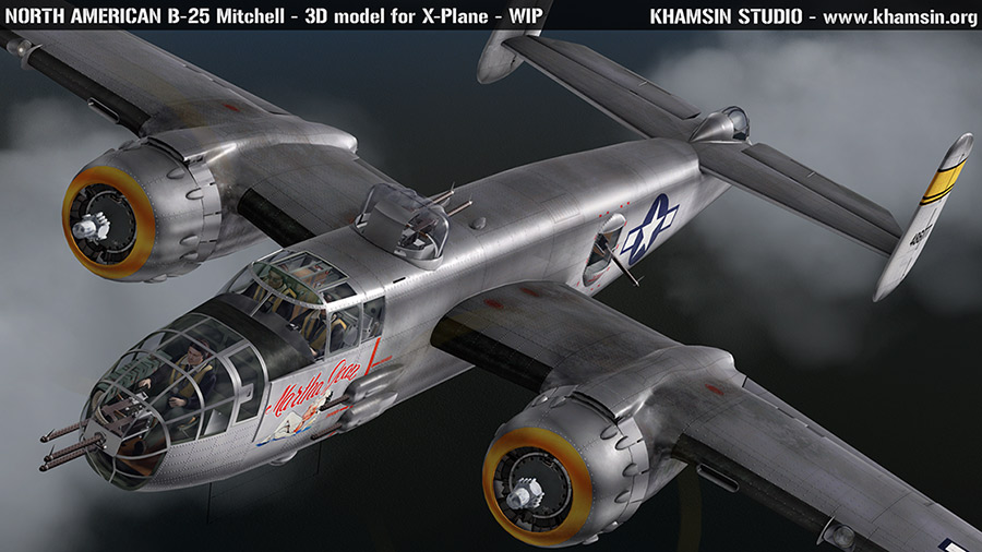 "North American B-25J ""Martha Jean"" 44-86777 for XPlane - www.khamsin.org"