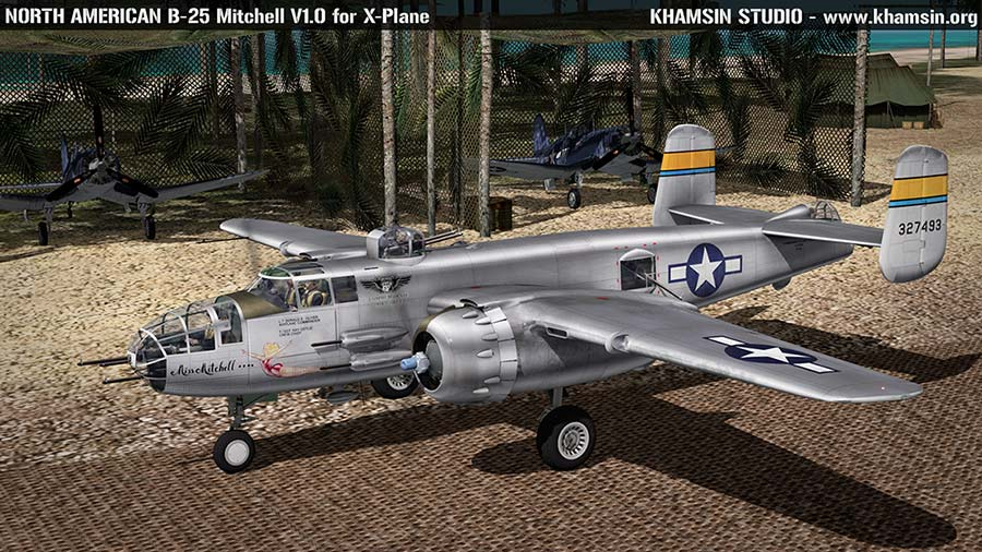 "NORTH AMERICAN B-25J Mitchell ""Miss Mitchell"" 44-29869 for XPlane - www.khamsin.org"