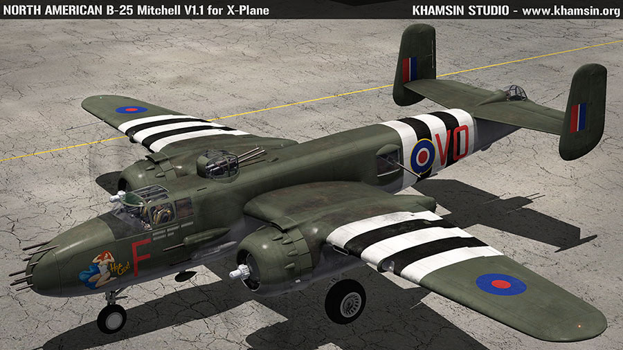 North American B-25 Mitchell - 3D model for X-Plane - WIP