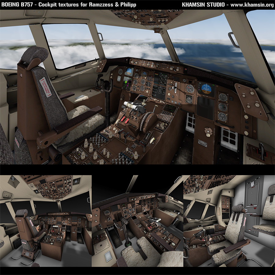 Boeing B757 - Cockpit textures for Ramzzess & Philipp