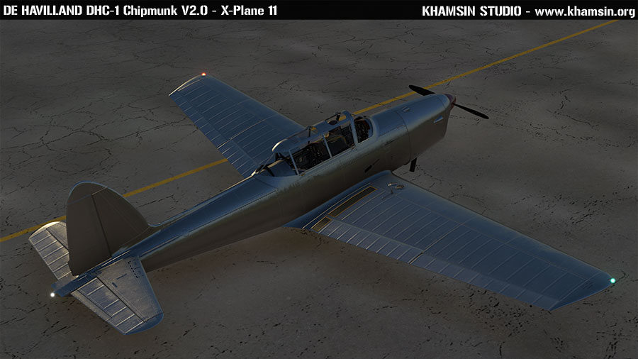 De Havilland DHC-1 Chipmunk V2.0 - PBR test - X-Plane 11