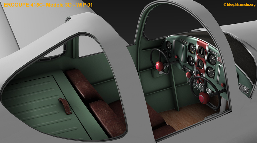 ercoupe 415C - 3D model for X-Plane - WIP03