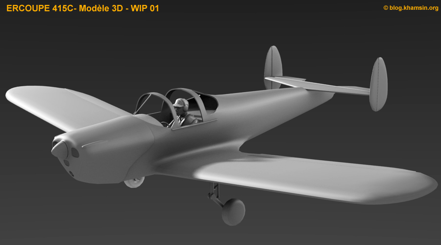 ercoupe 415C - 3D model for X-Plane - WIP01