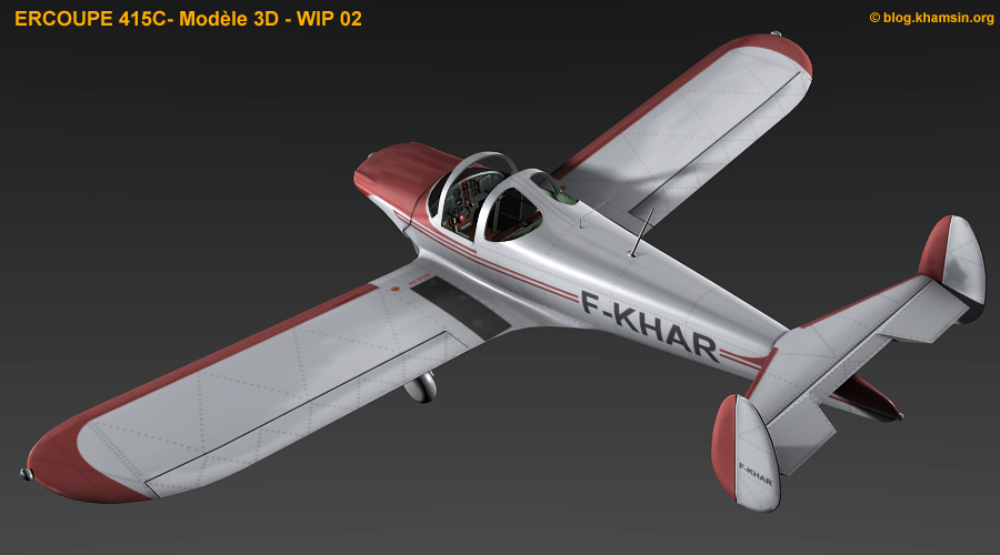 ercoupe 415C - 3D model for X-Plane - WIP02