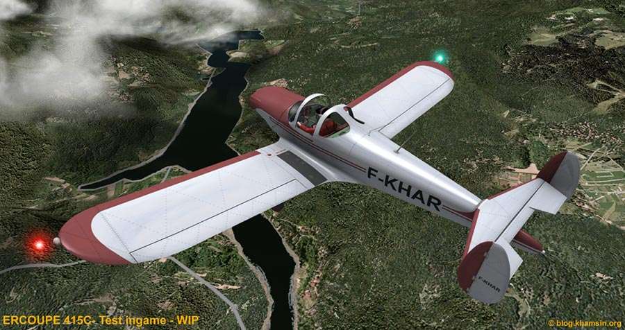 Ercoupe - Test ingame x-plane - WIP