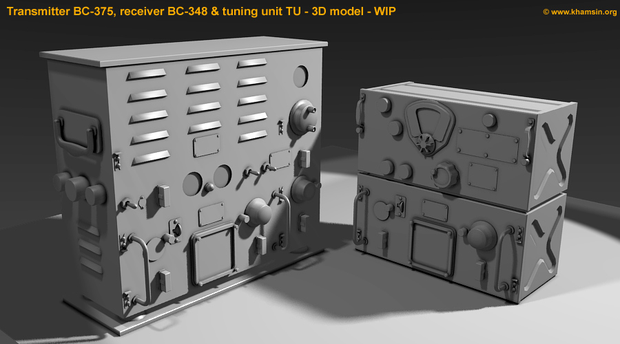 Transmitter BC-375 & tuning units TU - 3D models - WIP