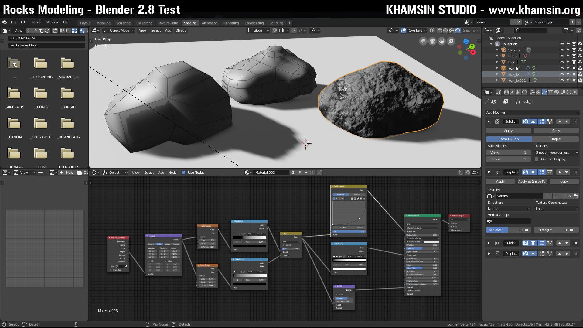 Rock Modeling - Blender 2 8 Test - blog khamsin org