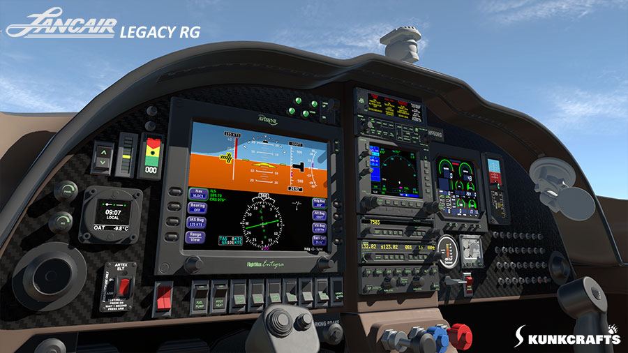 Lancair Legacy RG - 3D model by Khamsin for Skunkcrafts - X-Plane