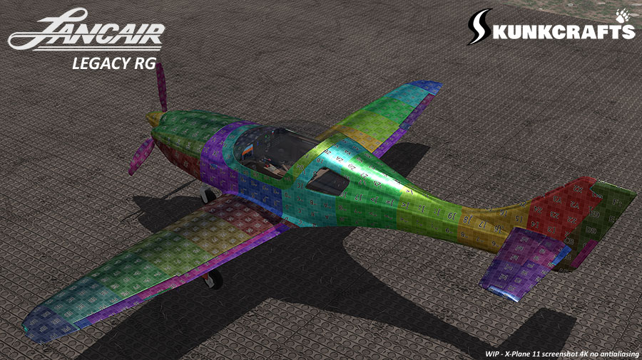 Lancair Legacy RG - 3D model by Khamsin for Skunkcrafts - X-Plane, oct. 2019