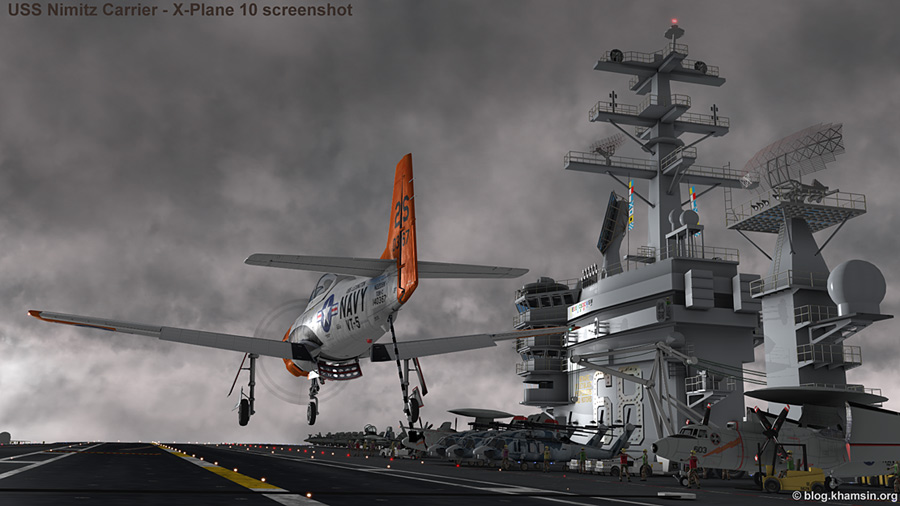 USS Nimitz aircraft carrier CVN-68 for X-Plane 10