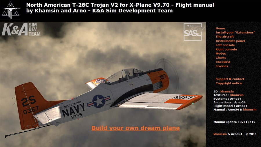 North American T-28 Trojan V2.0 for X-Plane - Flight manual