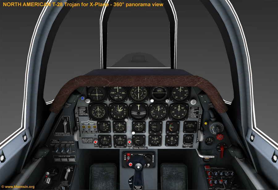 North American T-28 Trojan for X-Plane - 360° panoramic view