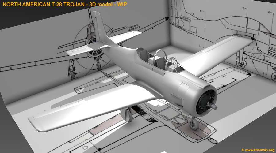 North American T-28 Trojan for X-Plane - WIP02