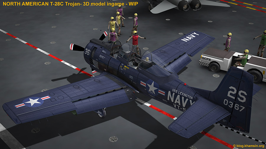 North American T-28 Trojan for X-Plane - WIP06