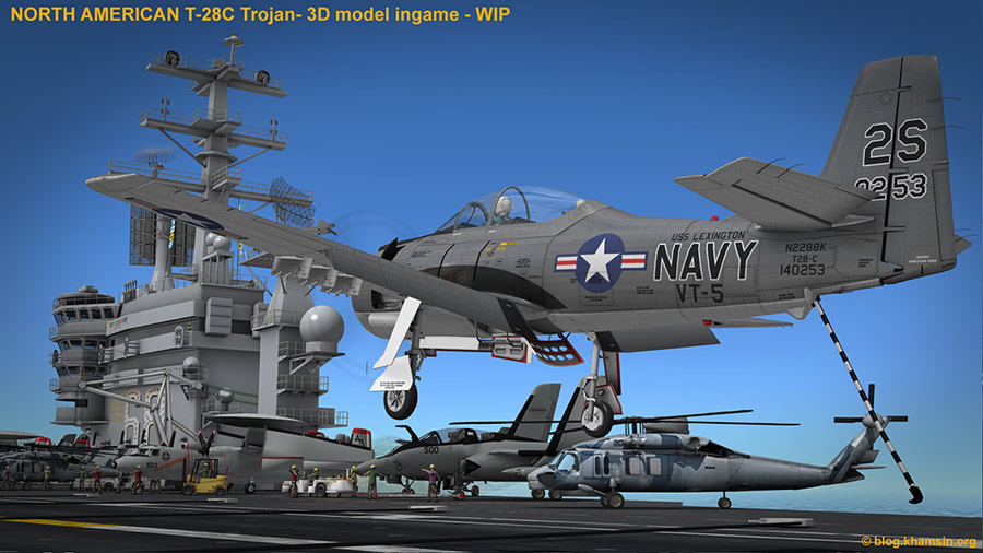 North American T-28 Trojan for X-Plane - WIP08