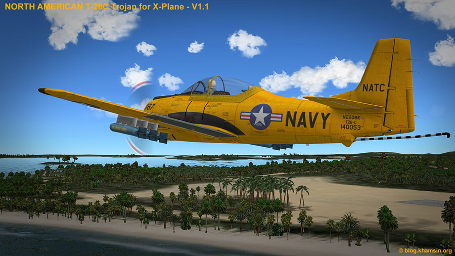 North American T-28 Trojan for X-Plane - V1.2