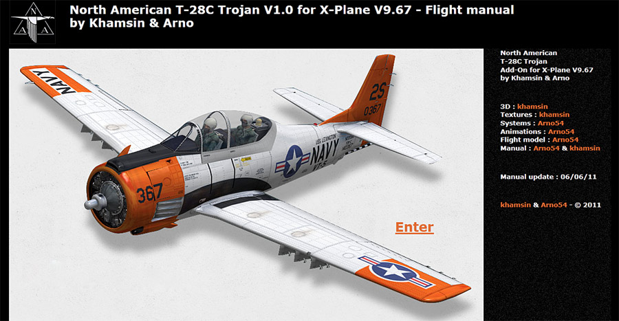 North American T-28 Trojan for X-Plane - Flight manual