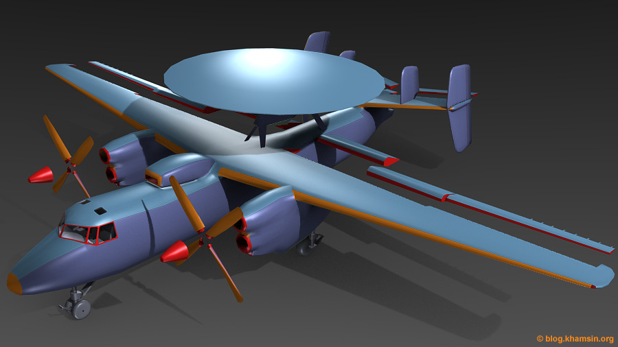 # # Modelisation low poly Grumman E2C Hawkeye