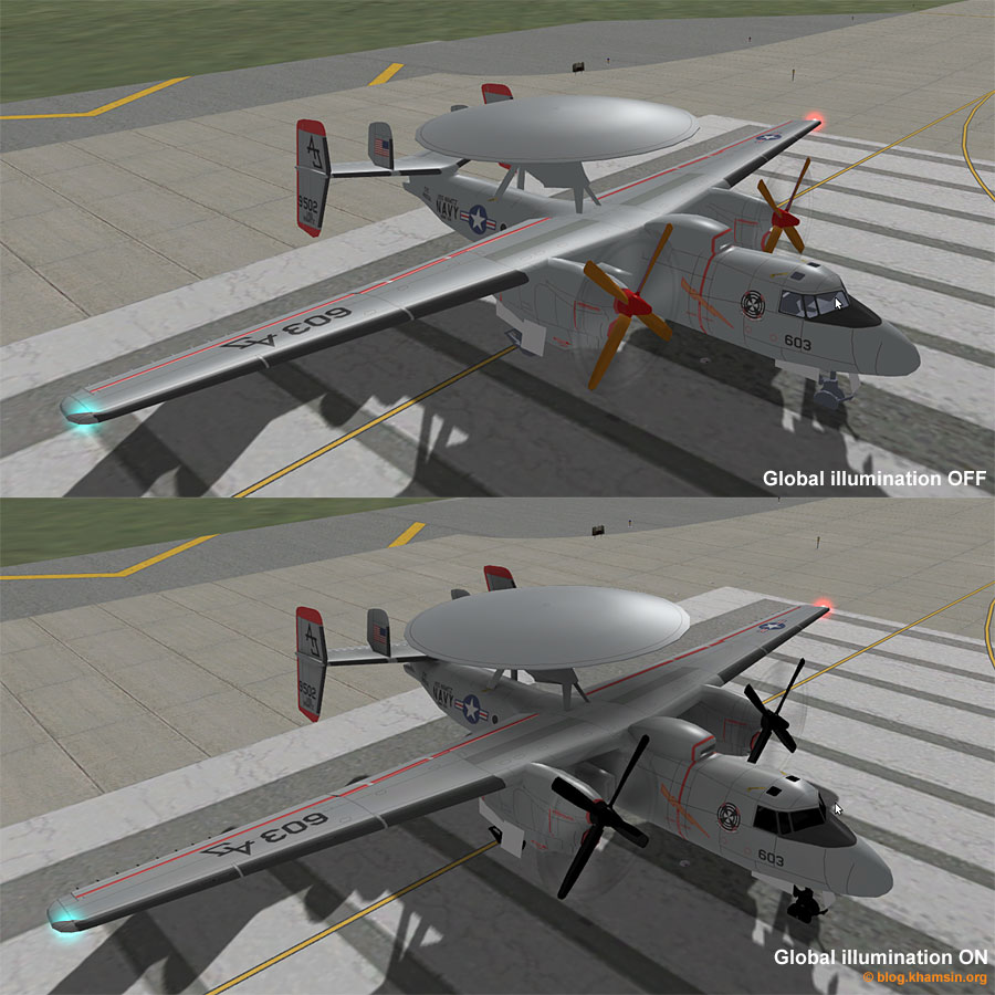 E2C Hawkeye - Global illumination