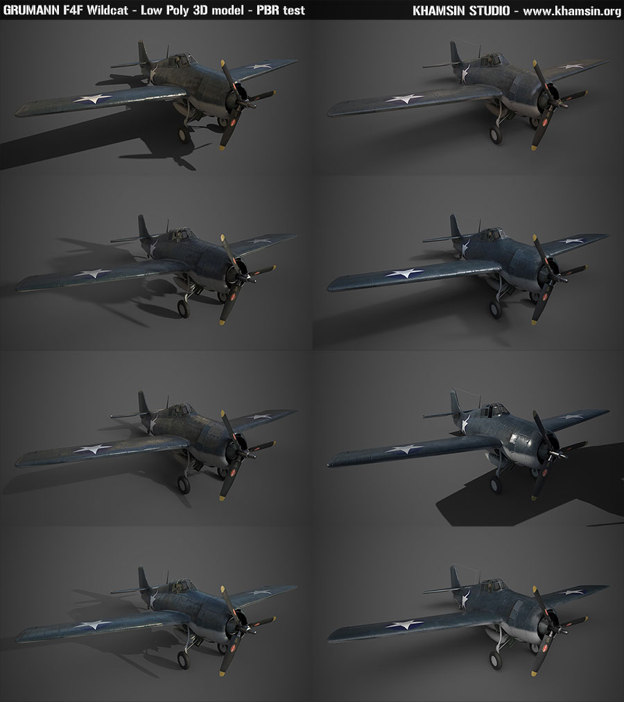 Grumman F4F Wildcat - PBR test for X-Plane 11