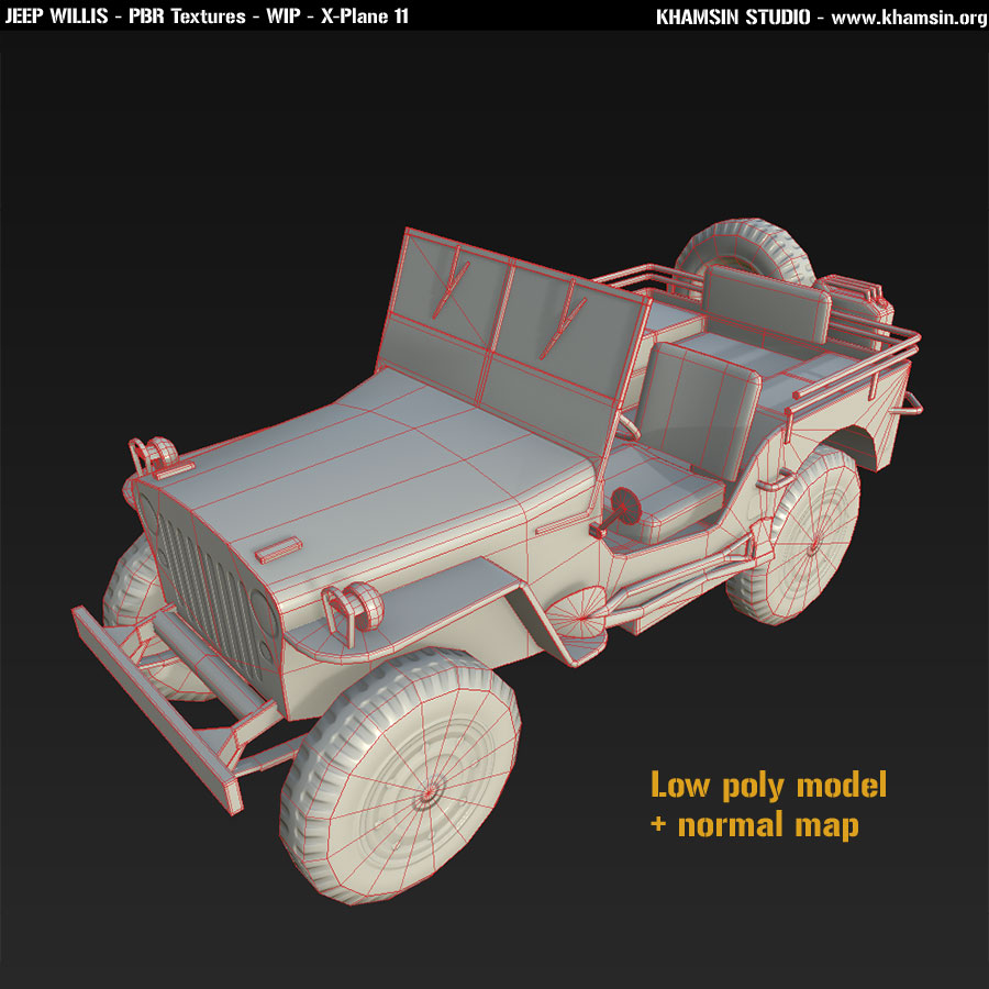 Jeep Willis - PBR - X-Plane 11
