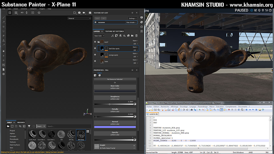 Substance Painter XPlane 11 Rust, nov. 2019