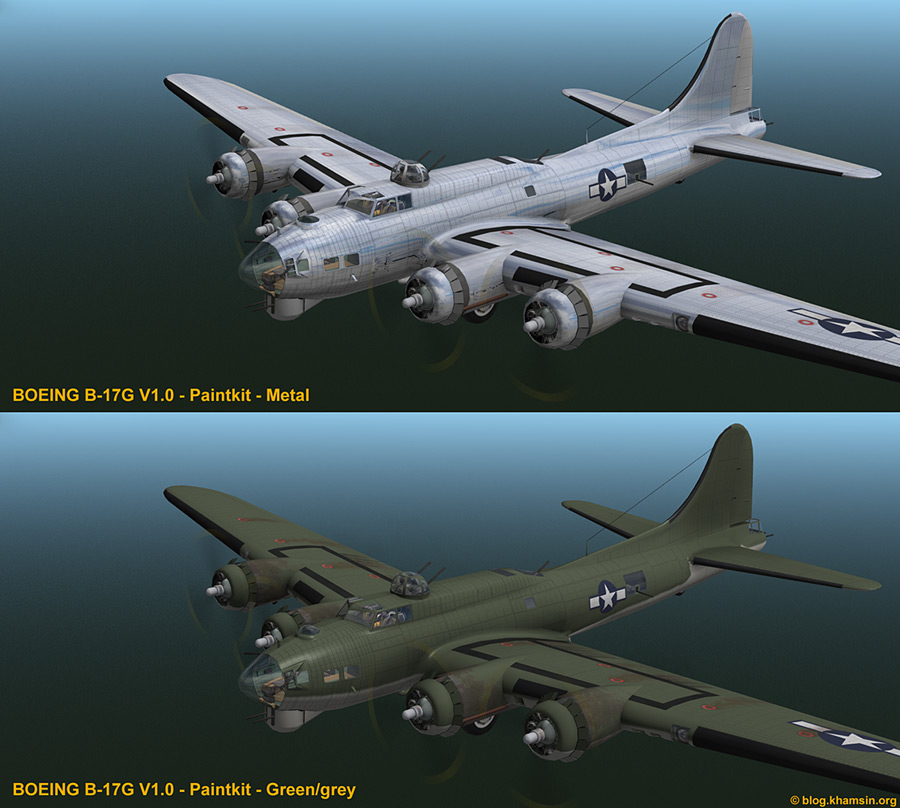 Boeing B-17F Flying Fortress for X-Plane - Paint Kit