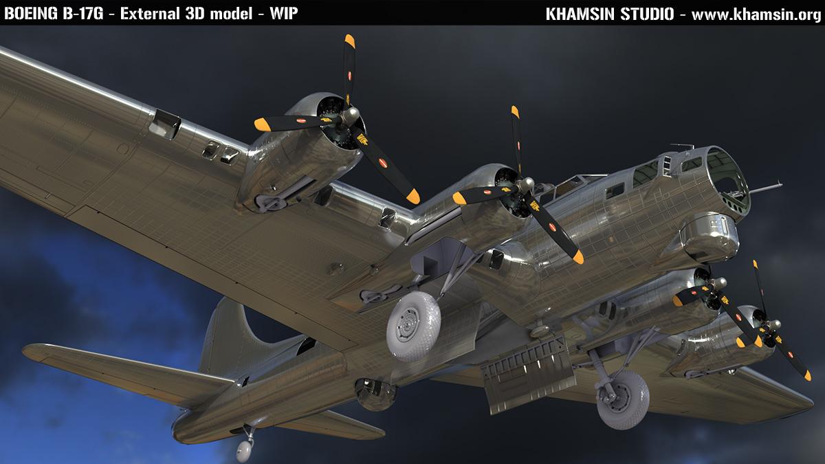 Boeing B-17 - 3D model X-Plane 11 - khamsin.org