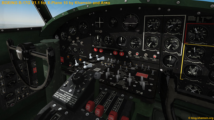 Boeing B-17G V1.1 for X-Plane10 by Khamsin and Arno