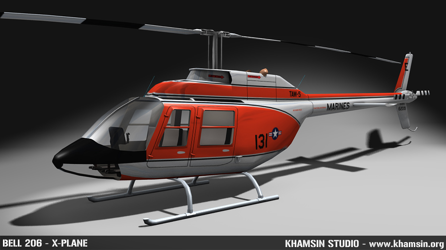 Bell 206 low poly 3D model - WIP