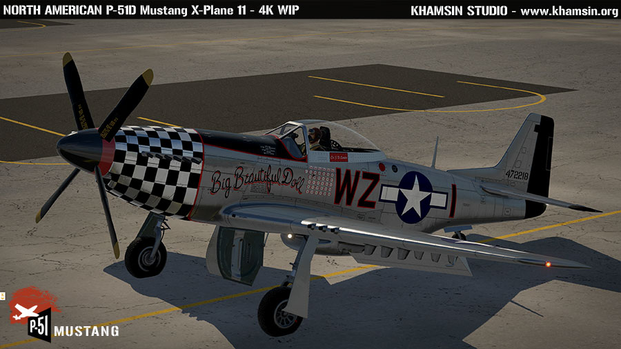 North American P-51D Mustang - X-Plane 11 4k test
