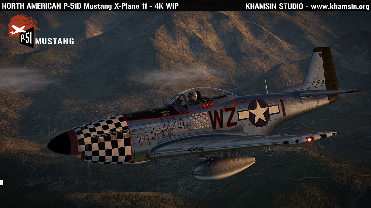 North American P-51D Mustang - 3D model X-Plane 10 - khamsin.org
