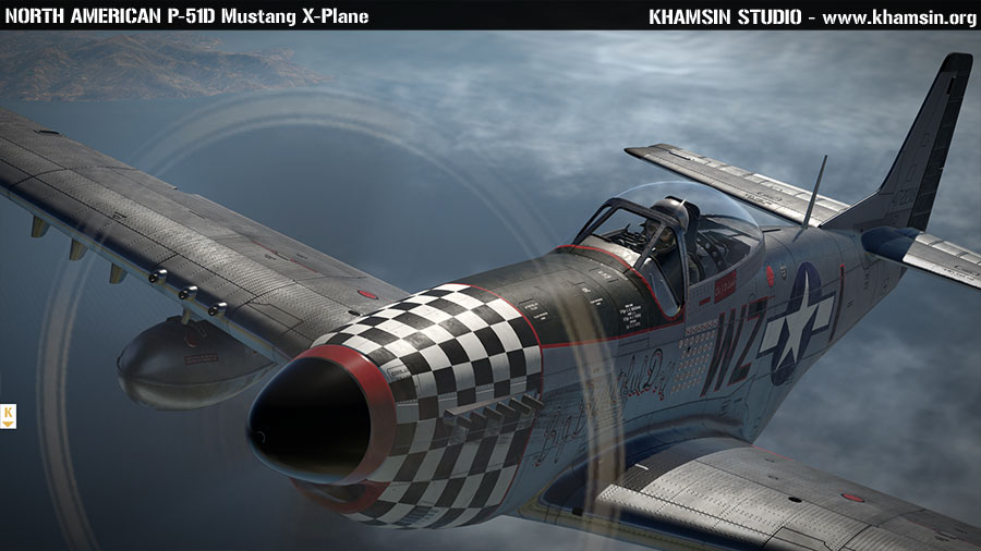 North American P-51D Mustang - X-Plane 11 test